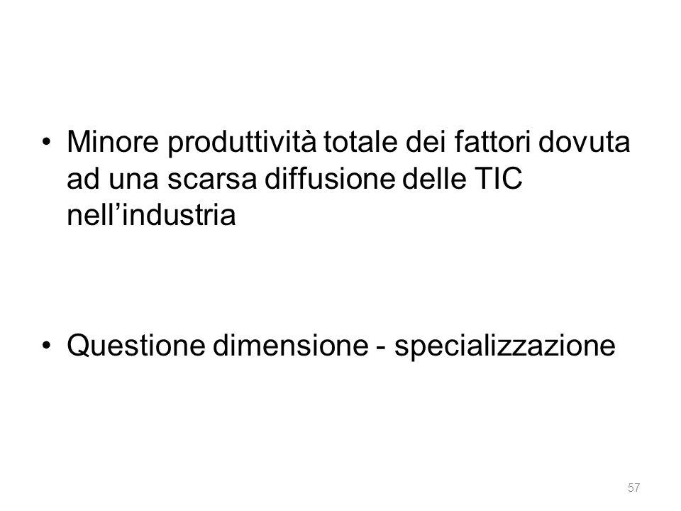 Questione dimensione - specializzazione
