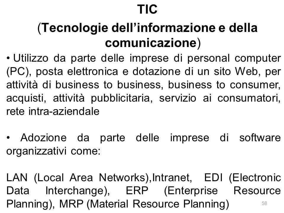TIC (Tecnologie dell'informazione e della comunicazione)