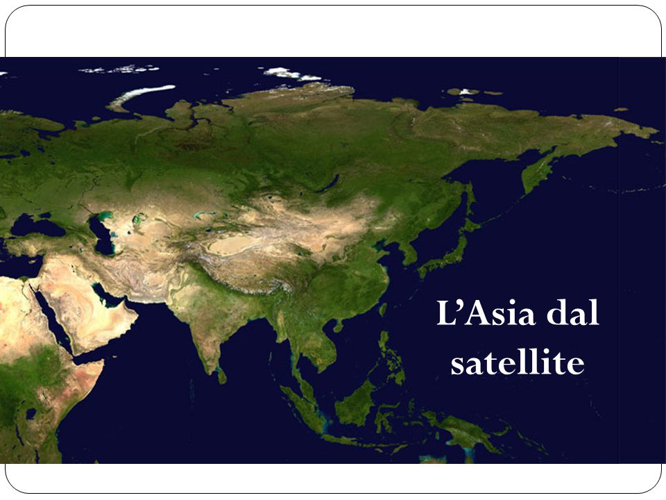 L'Asia dal satellite