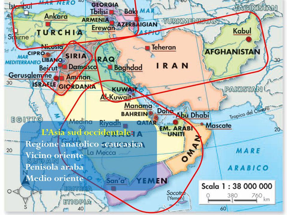 L'Asia sud occidentale: