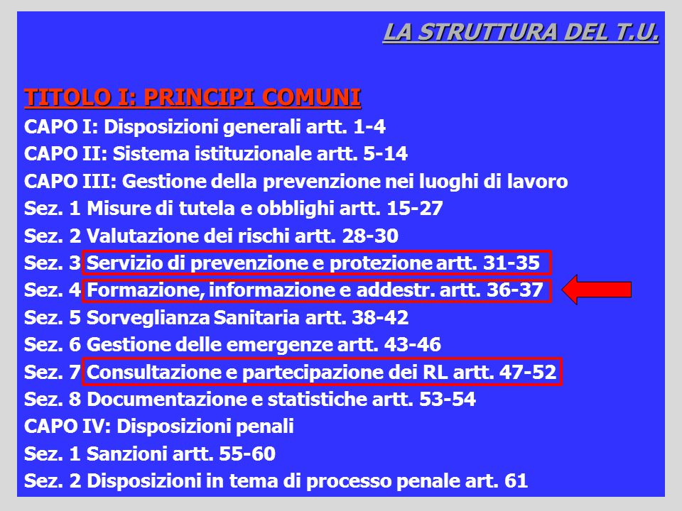 TITOLO I: PRINCIPI COMUNI