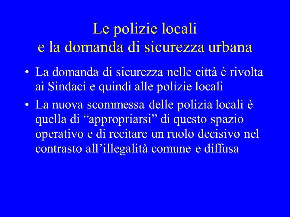 Le polizie locali e la domanda di sicurezza urbana