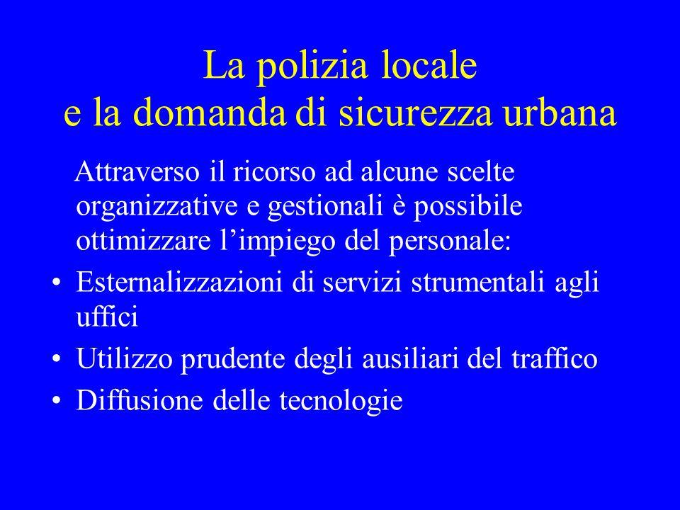 La polizia locale e la domanda di sicurezza urbana