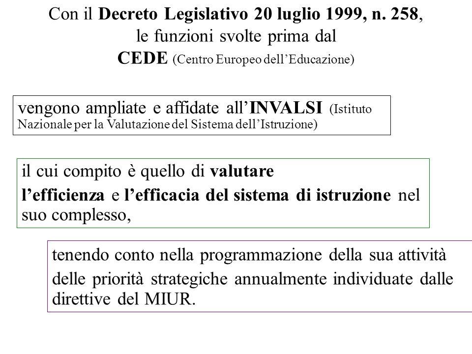 Con il Decreto Legislativo 20 luglio 1999, n