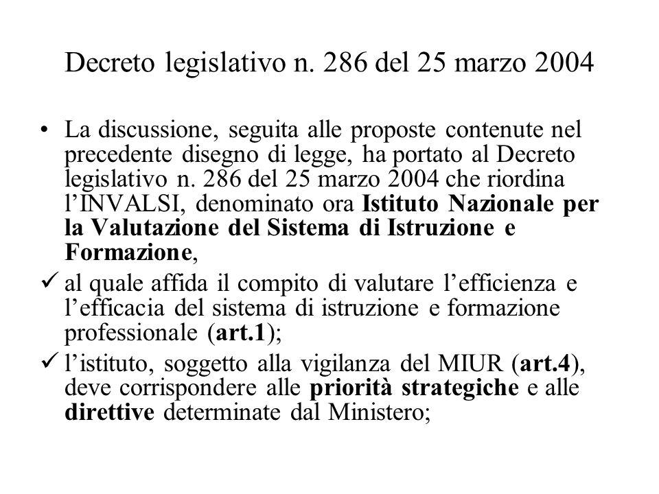 Decreto legislativo n. 286 del 25 marzo 2004