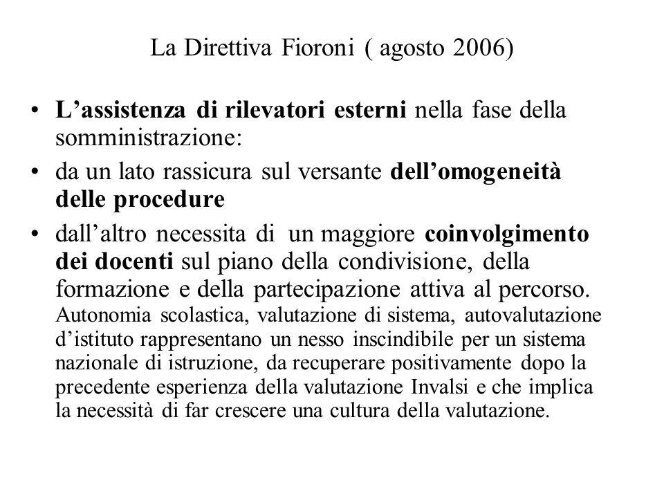 La Direttiva Fioroni ( agosto 2006)