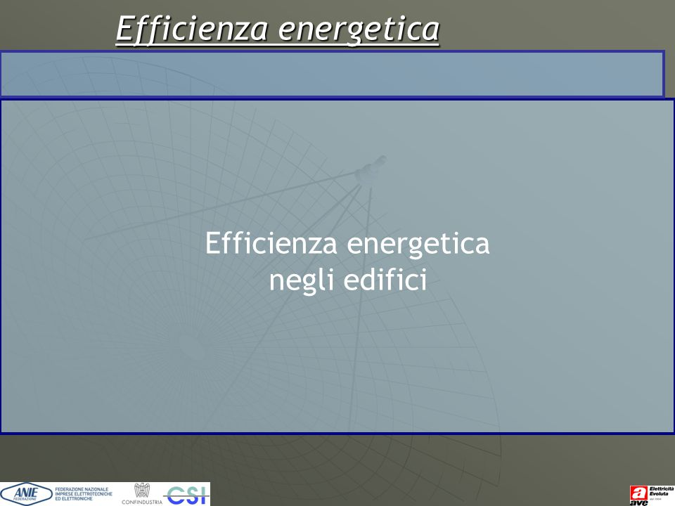 Efficienza energetica negli edifici
