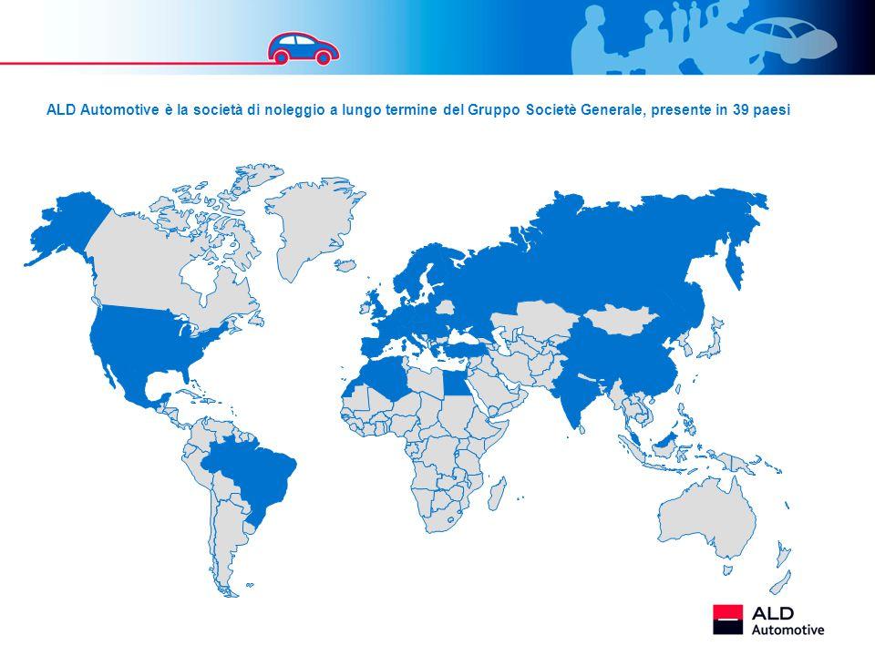 ALD Automotive è la società di noleggio a lungo termine del Gruppo Societè Generale, presente in 39 paesi