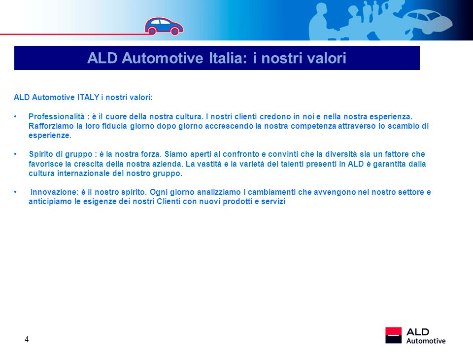 ALD Automotive Italia: i nostri valori