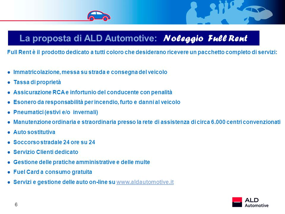 La proposta di ALD Automotive: Noleggio Full Rent