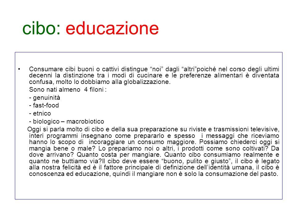 cibo: educazione