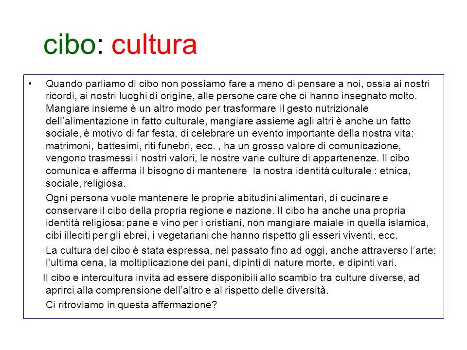 cibo: cultura