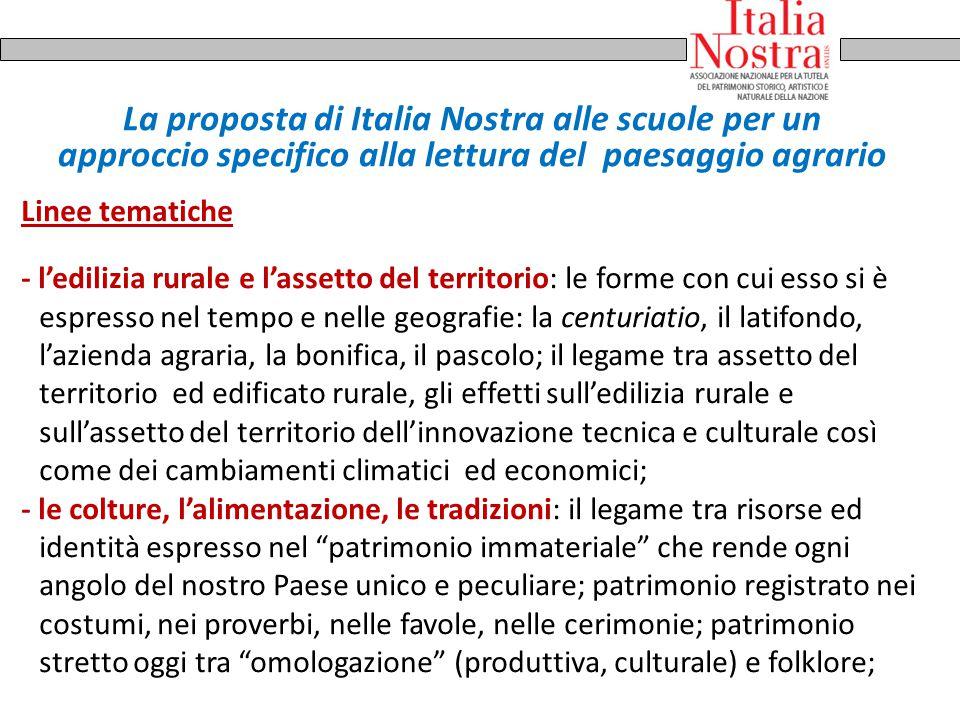 La proposta di Italia Nostra alle scuole per un approccio specifico alla lettura del paesaggio agrario