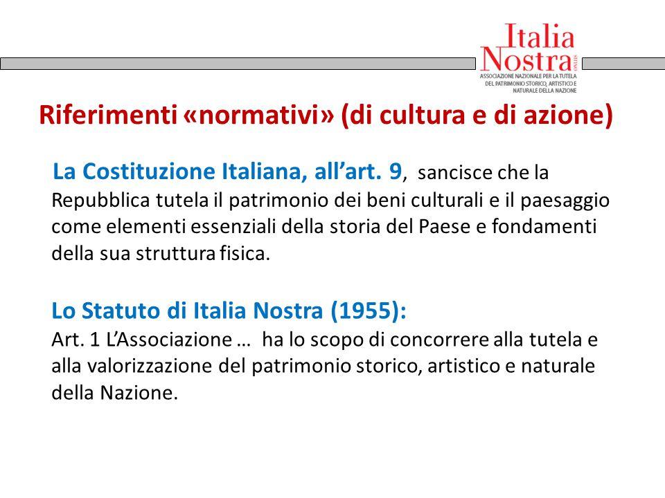 Riferimenti «normativi» (di cultura e di azione)
