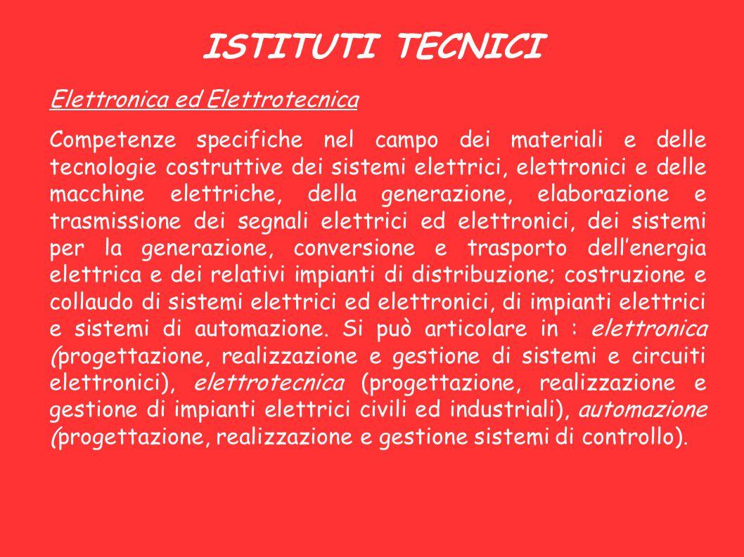 ISTITUTI TECNICI Elettronica ed Elettrotecnica