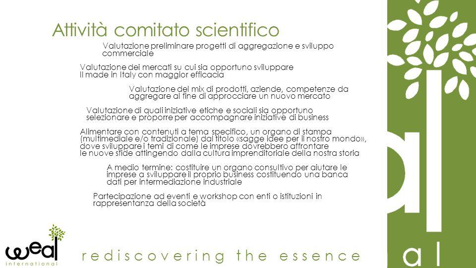Attività comitato scientifico