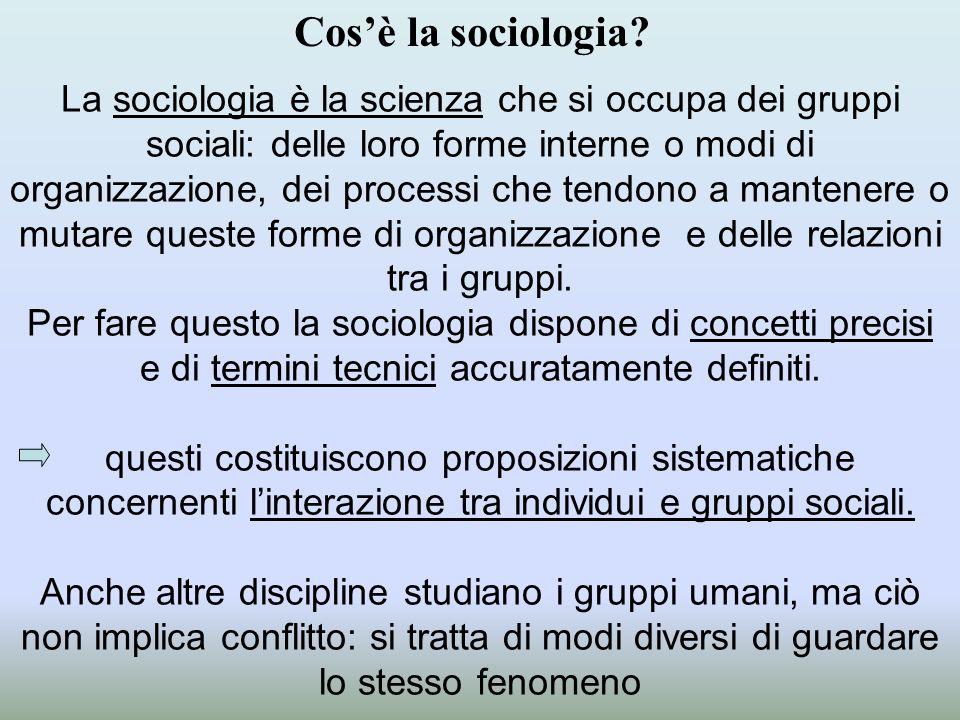 Cos'è la sociologia