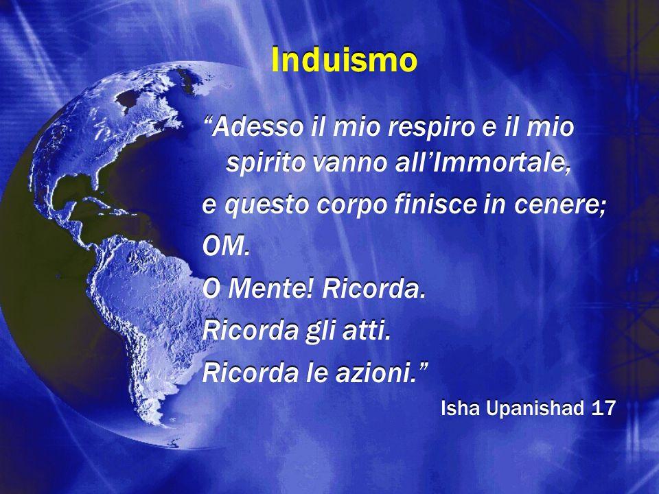 Induismo Adesso il mio respiro e il mio spirito vanno all'Immortale,