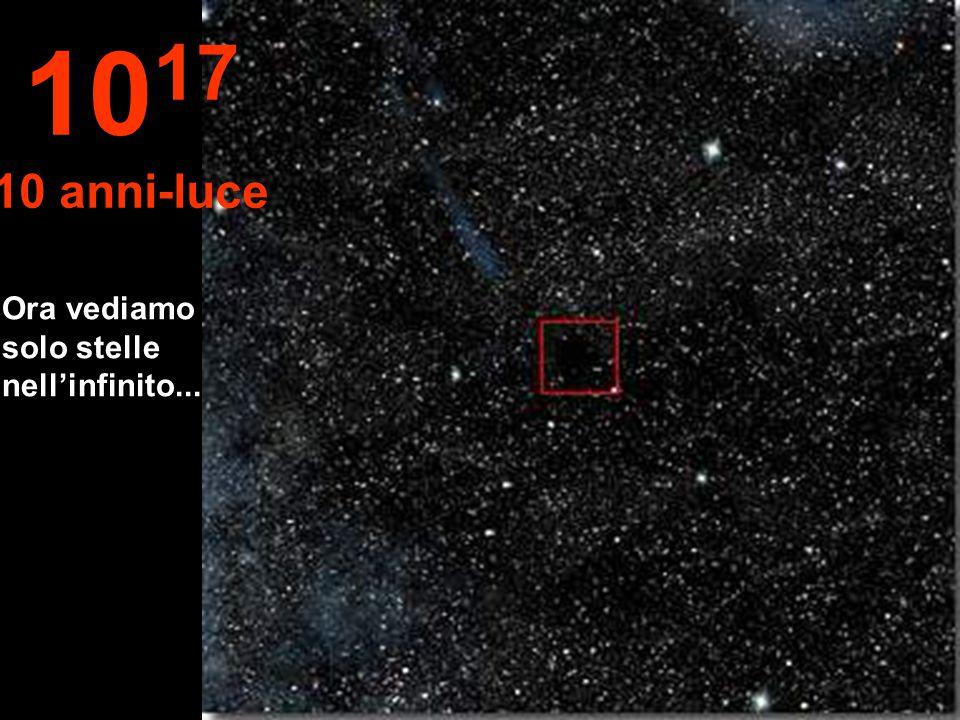 1017 10 anni-luce Ora vediamo solo stelle nell'infinito...