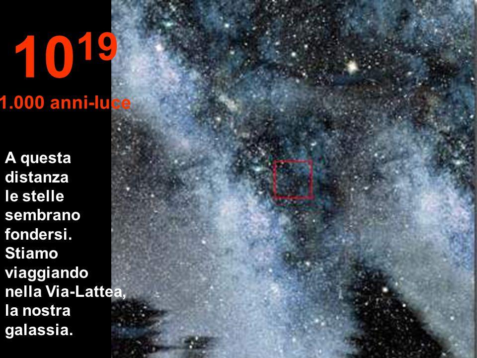1019 1.000 anni-luce A questa distanza