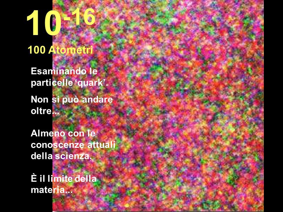 10-16 100 Atometri Esaminando le particelle 'quark'.