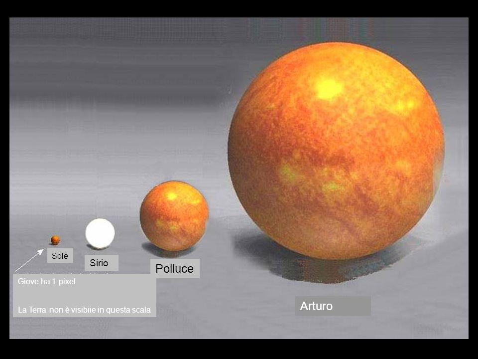 Polluce Arturo Sirio Sole Giove ha 1 pixel