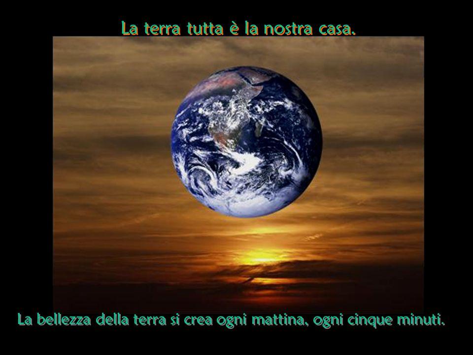 La terra tutta è la nostra casa.