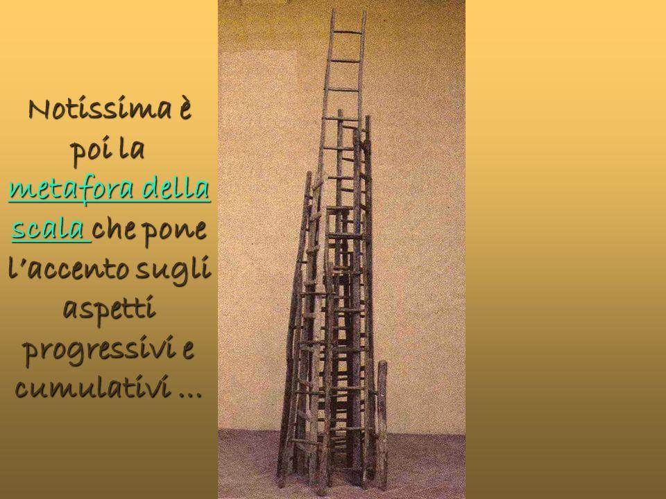 Notissima è poi la metafora della scala che pone l'accento sugli aspetti progressivi e cumulativi …
