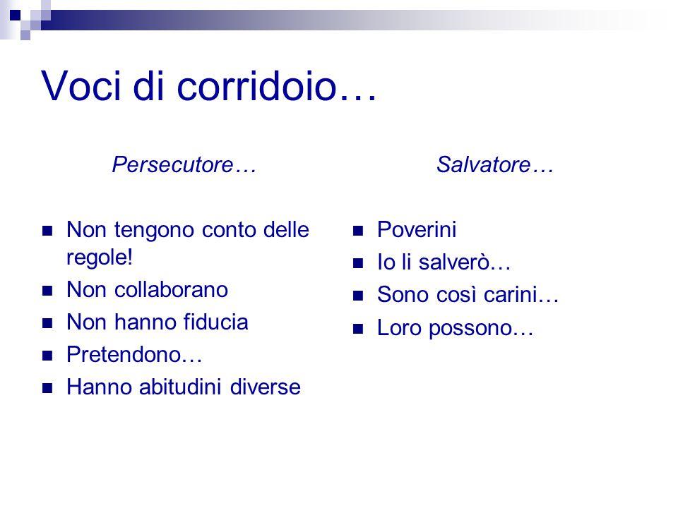 Voci di corridoio… Persecutore… Non tengono conto delle regole!