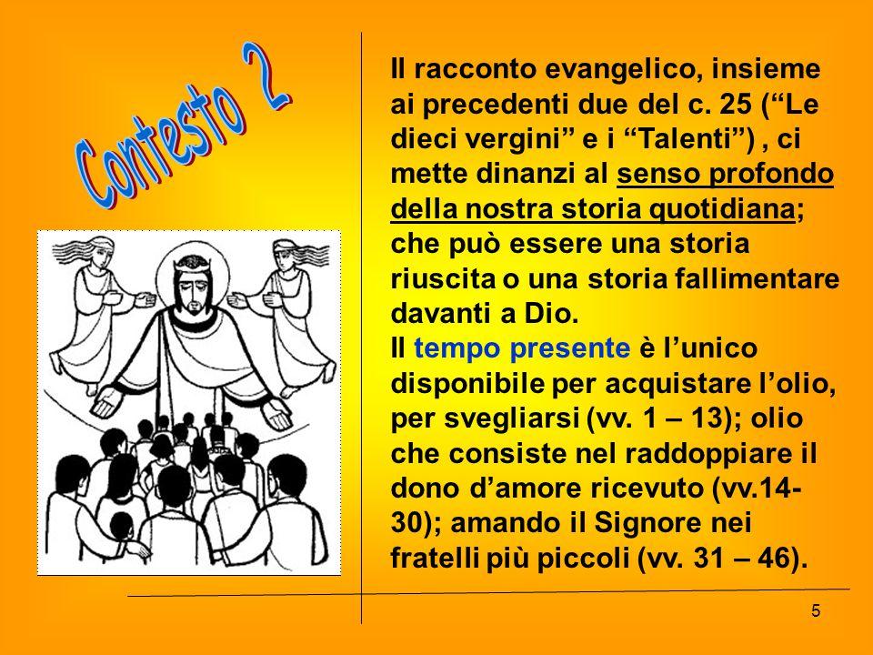 Il racconto evangelico, insieme ai precedenti due del c