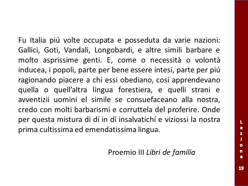 Proemio III Libri de familia