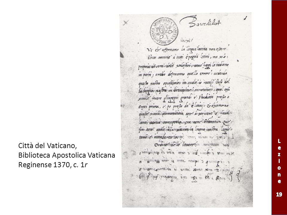 Biblioteca Apostolica Vaticana Reginense 1370, c. 1r