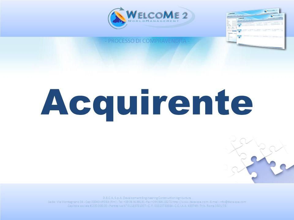 Acquirente - PROCESSO DI COMPRAVENDITA -