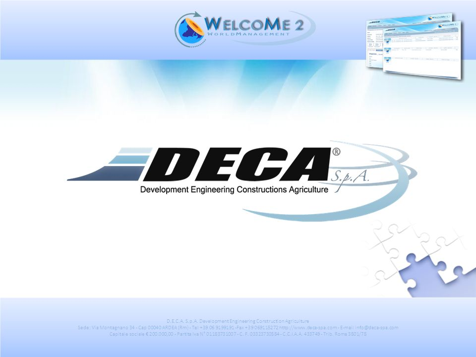 D.E.C.A. S.p.A. Development Engineering Construction Agriculture