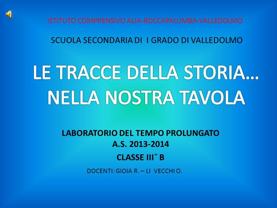LABORATORIO DEL TEMPO PROLUNGATO A.S. 2013-2014 CLASSE IIIˆ B