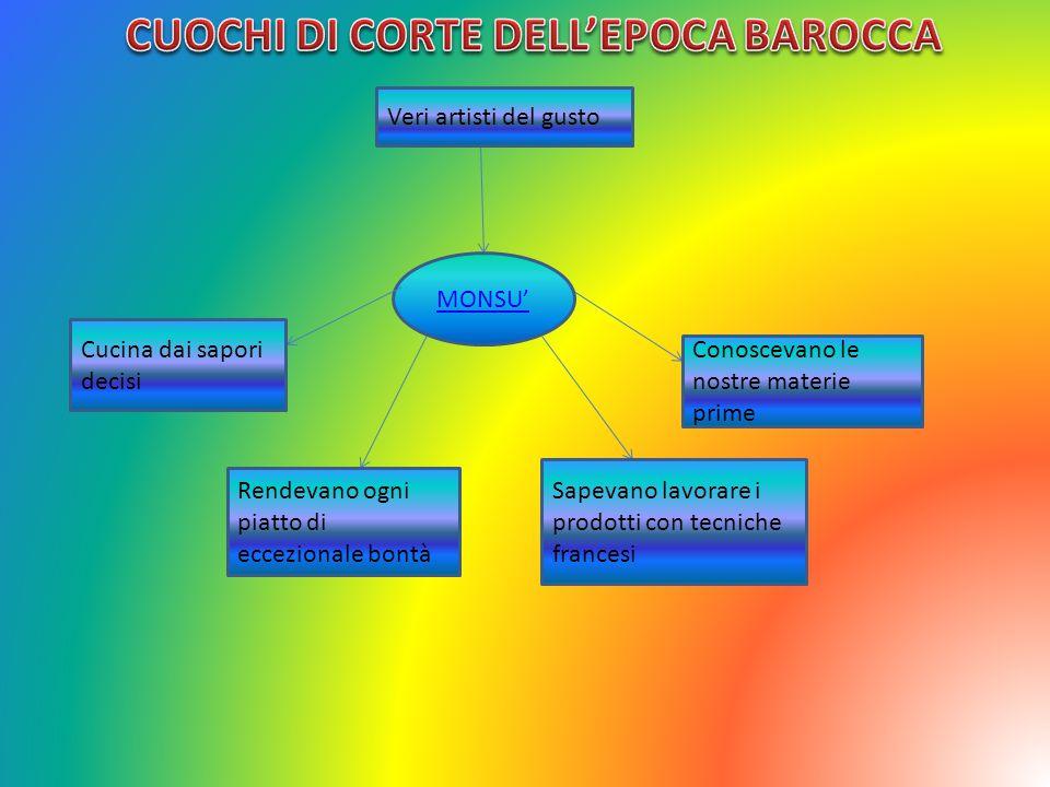 CUOCHI DI CORTE DELL'EPOCA BAROCCA