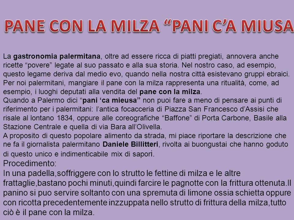 PANE CON LA MILZA PANI C'A MIUSA