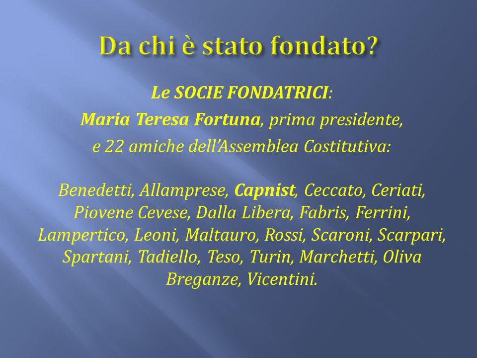 Da chi è stato fondato Le SOCIE FONDATRICI: