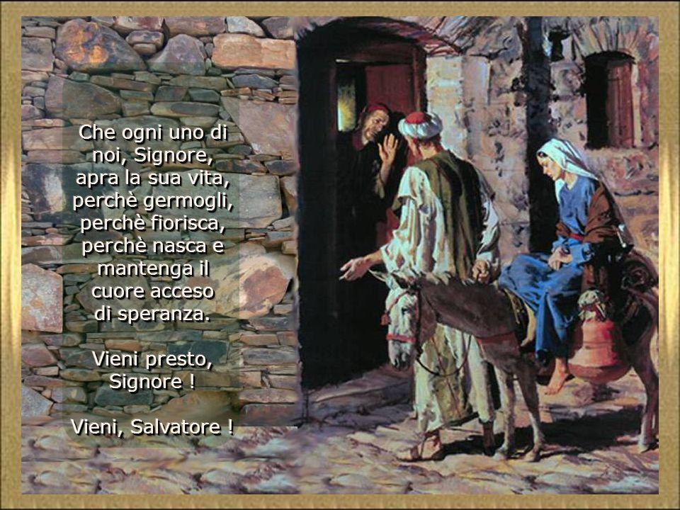 Che ogni uno di noi, Signore, apra la sua vita, perchè germogli, perchè fiorisca, perchè nasca e mantenga il cuore acceso