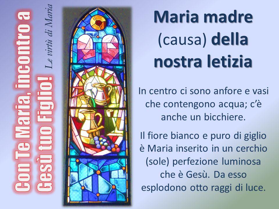 Maria madre (causa) della nostra letizia
