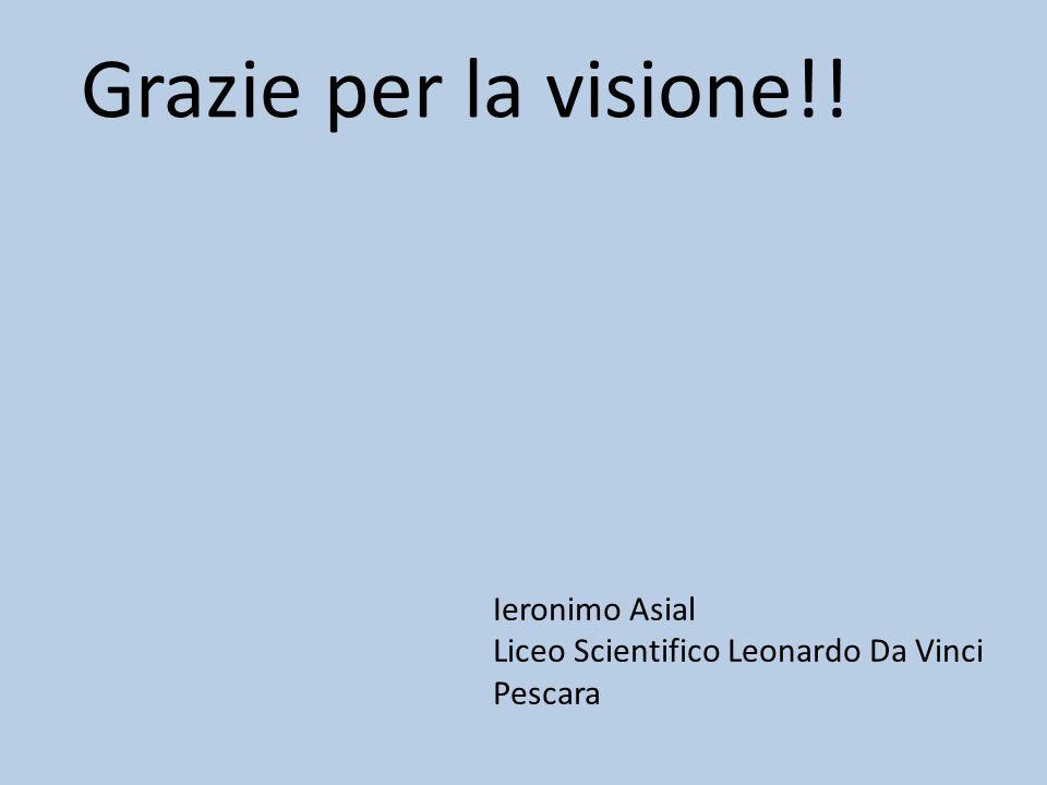 Grazie per la visione!! Ieronimo Asial