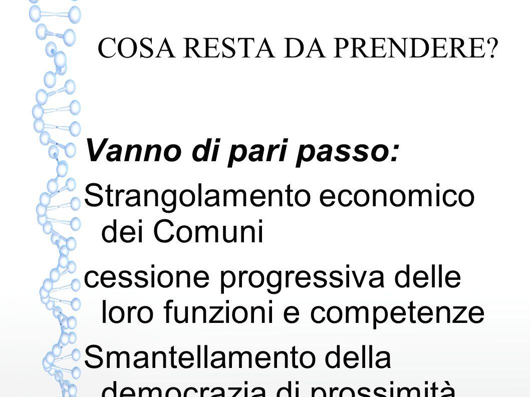 Strangolamento economico dei Comuni