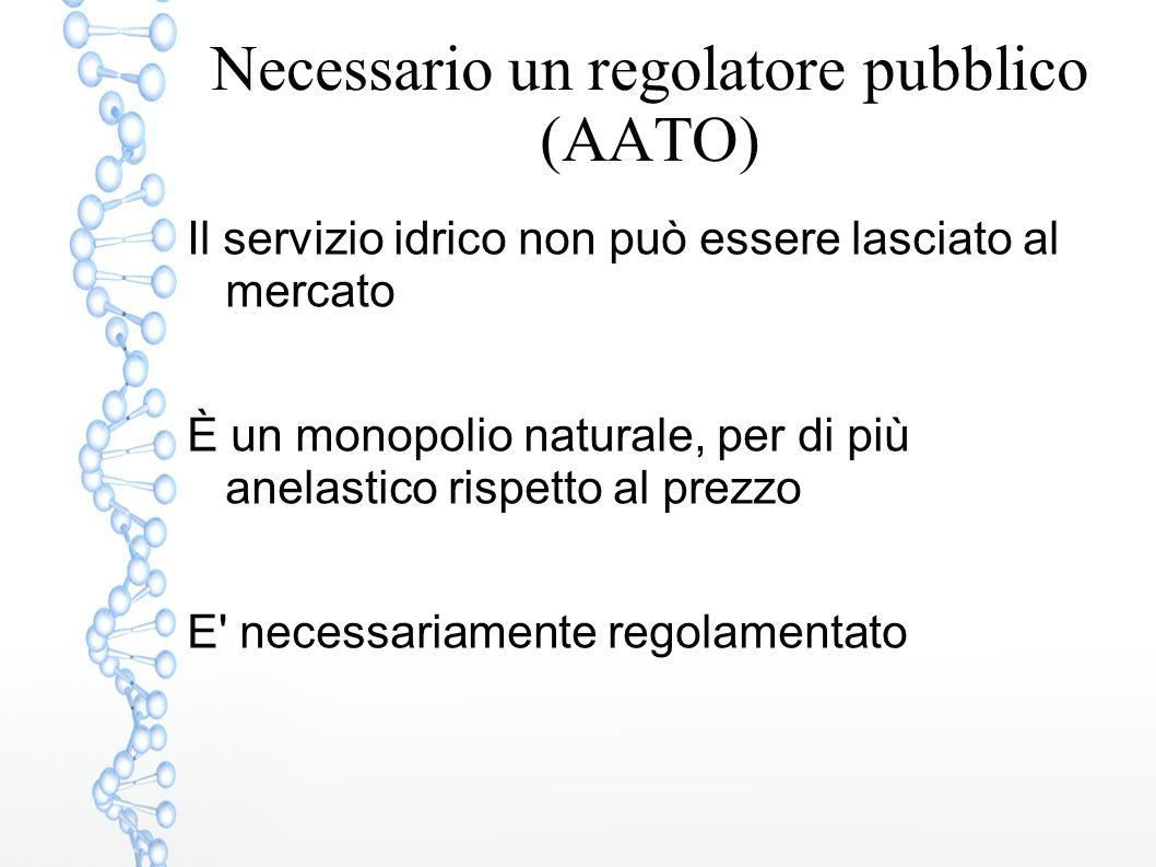 Necessario un regolatore pubblico (AATO)