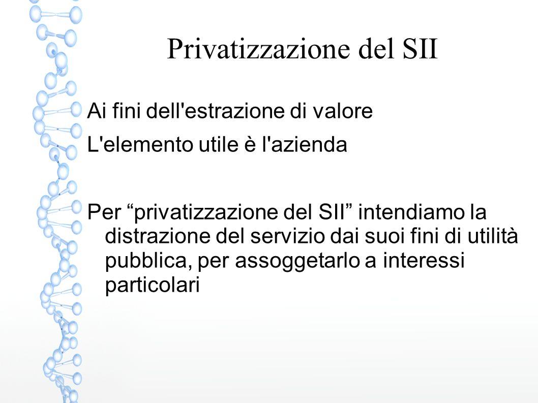 Privatizzazione del SII