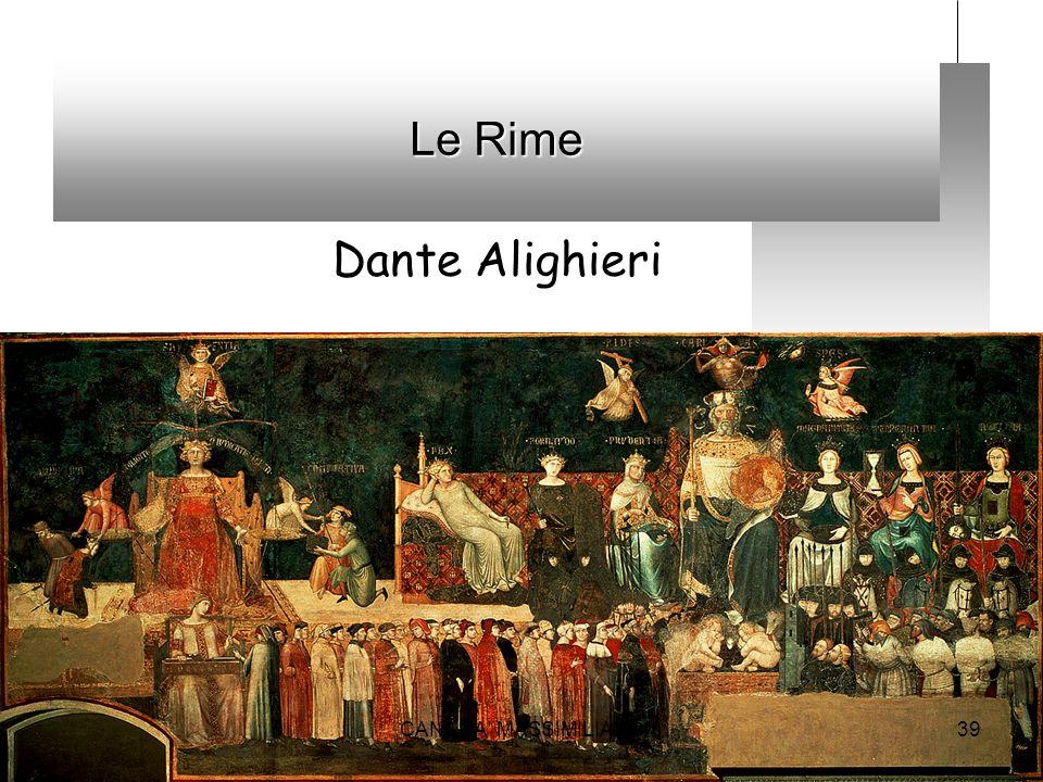 Le Rime Dante Alighieri CANANA MASSIMILIANO
