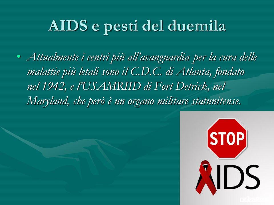 AIDS e pesti del duemila