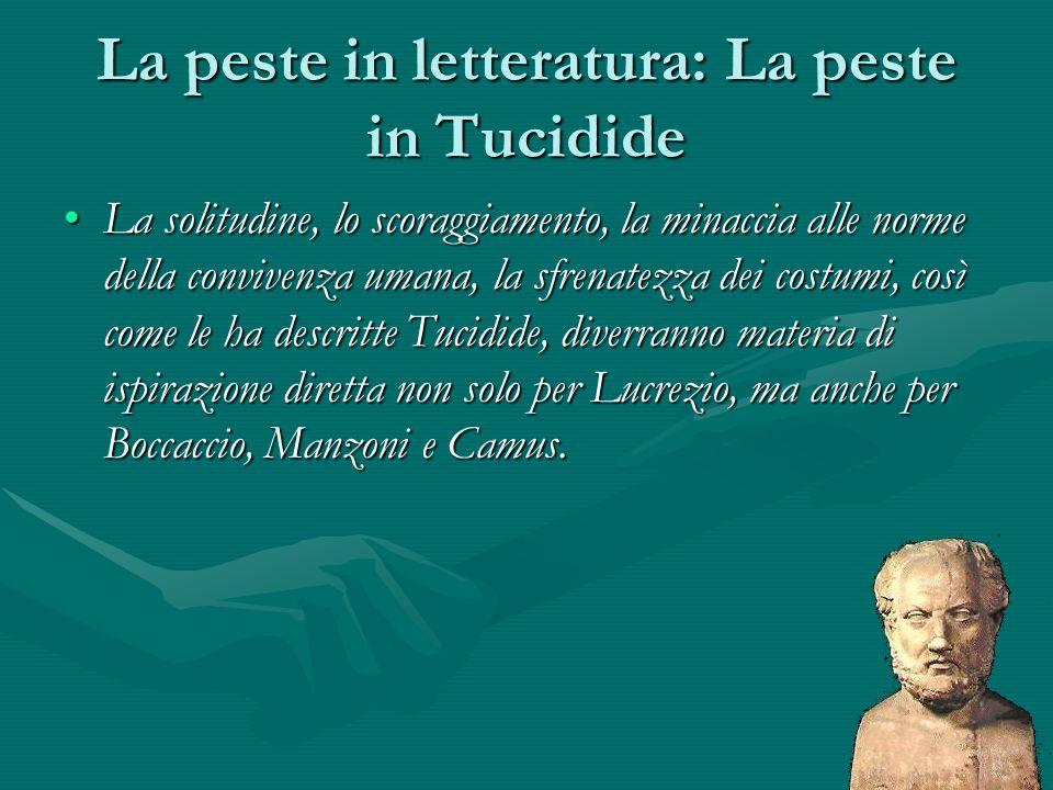 La peste in letteratura: La peste in Tucidide