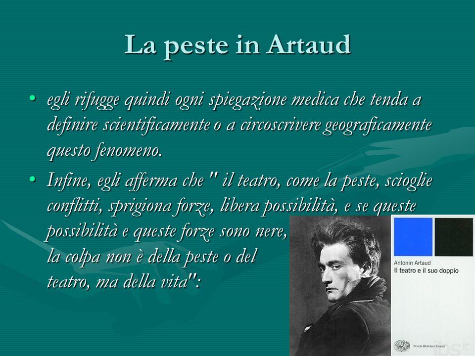 La peste in Artaud