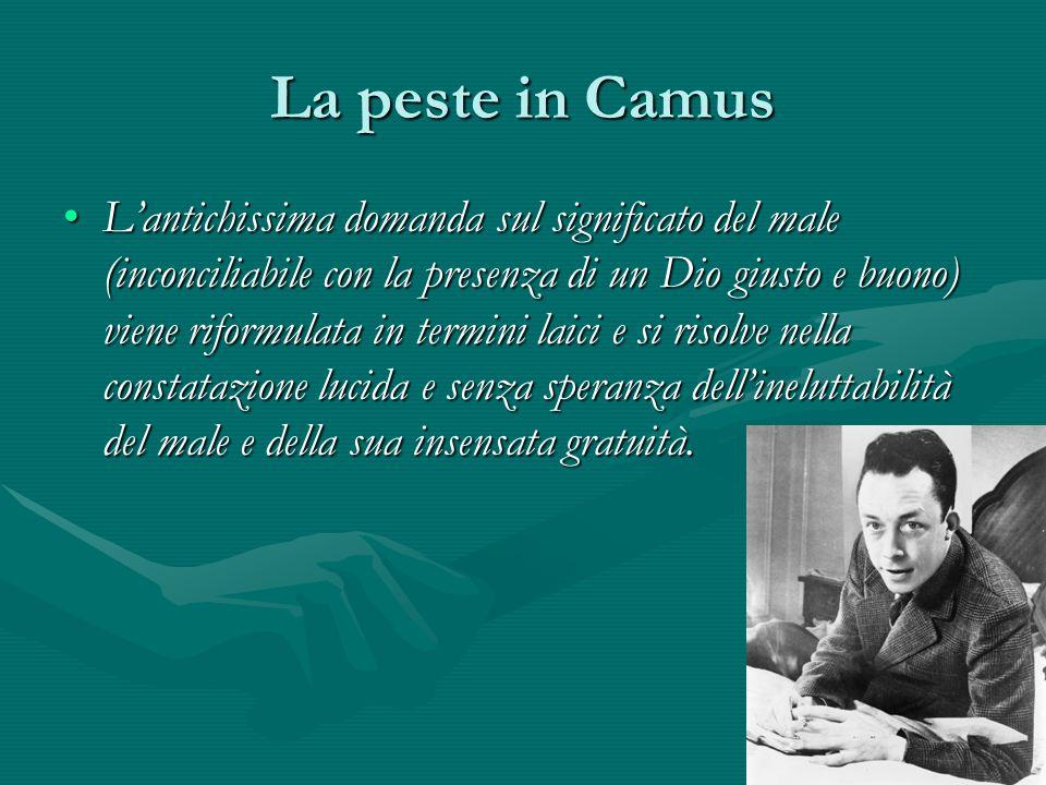 La peste in Camus