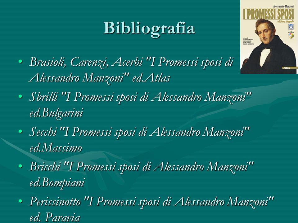 Bibliografia Brasioli, Carenzi, Acerbi I Promessi sposi di Alessandro Manzoni ed.Atlas.